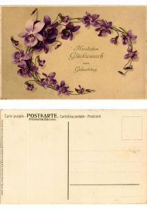 CPA Veilchenkranze Meissner & Buch Litho Serie 1420 (730511)