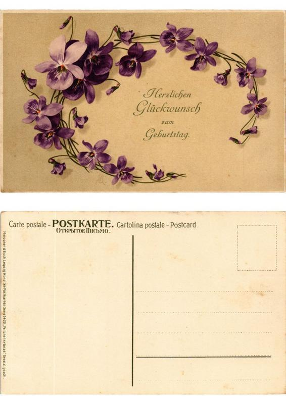 CPA AK Veilchenkranze Meissner & Buch Litho Serie 1420 (730511)