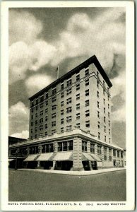 Elizabeth City, North Carolina Postcard HOTEL VIRGINIA DARE Street View - 1956