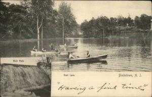 Blairstown NJ Boating c1905 Postcard