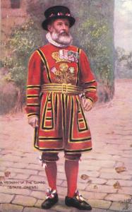A Yeoman Of The Guard (State Dress), British Army, 1910-1920s TUCK # 9221