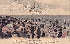 Fine Bathing Here Ocean Grove New Jersey 1907