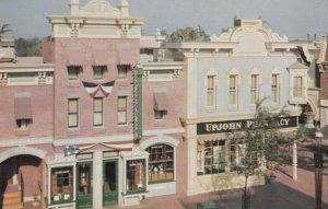 DISNEYLAND, CA, 1950-60s; UPJOHN Pharmacy on the corner of Main & Center Sts.