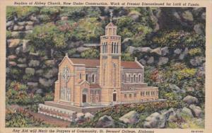 Alabama St Bernard College Replica Of Abbey Church Curteich