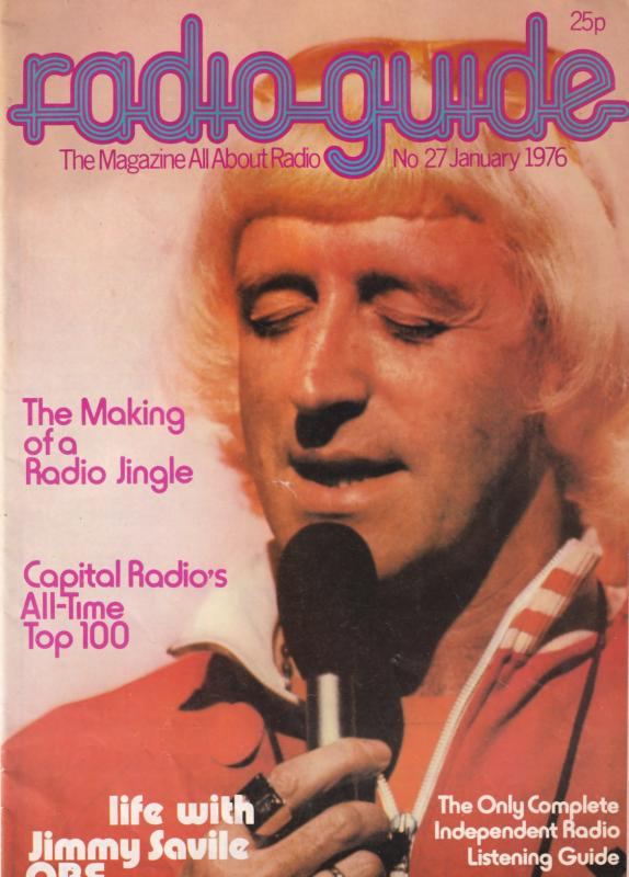 Jimmy Saville Radio 1 Jingles Capitol Magazine Rare 1976 Book