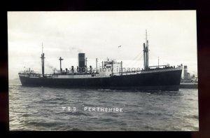 bf541 - Scottish Shire Cargo Ship - Perthshire , built 1937 - postcard Feilden