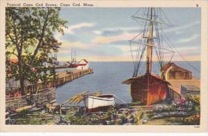 Massachusetts Cape Cod Typical Waters Edge Scene