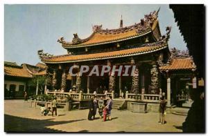 Postcard Old Lungahan Temple Taipei Taiwan China China