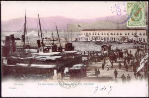 turkey SMYRNE Passeport Échelle Cie. Hamidié 1906 Stamp