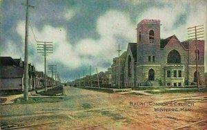 Canada Ralph Connor's Church Winnipeg Man Eglise Postcard