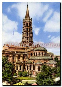 Modern Postcard Toulouse city Rose cites Violets apse of the Basilica of Sain...