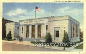 Hagerstown, MD USA,  Post Office Postcard, Postoffice Post Card Old Vintage A...