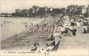 Old Postcard Parame La Plage Rochebonne