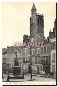 Old Postcard Orleans Place de la Republique and Musee du Tour