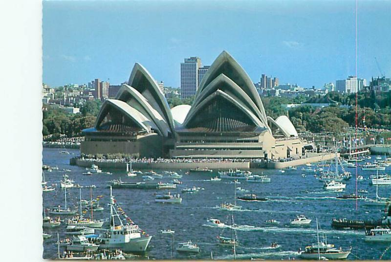 Postcard Australia South Whales Sydney Opera House Opening Day 1973  # 2741A