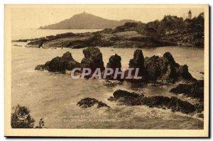 Old Postcard Agay The rocks of Baumette