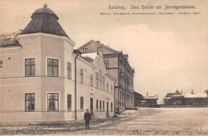 Hallsberg Sweden Hotel and Train Station Vintage Postcard JA455282