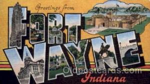 Fort Wayne, Indiana Large Letter Town Towns Post Cards Postcards  Fort Wayne,...