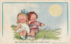 Grace DRAYTON-WIEDERSEIM, PU-1912; Child Couple, Boy asks moon to turn off light