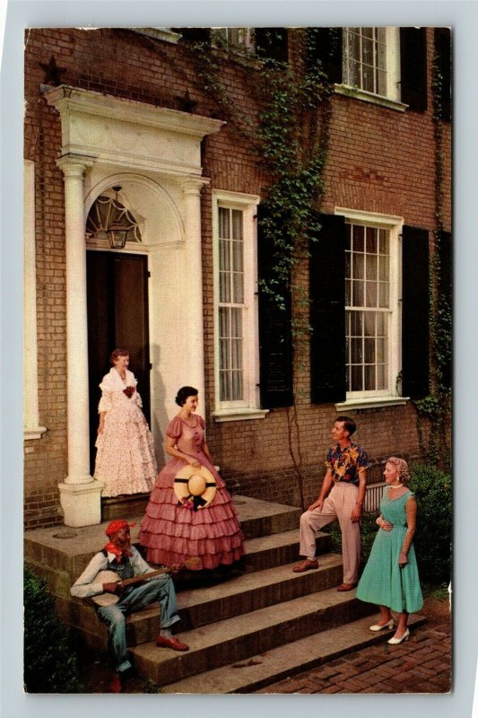 Bardstown Kentucky, My Old Kentucky Home Character Actors Guests Chrome Postcard