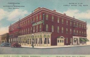 WINONA, Minnesota, 1930-40s; Park Hotel