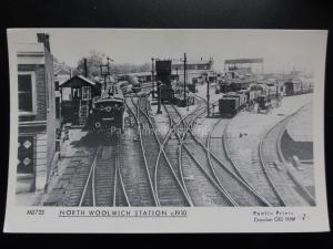 NORTH WOOLWICH STATION c1910 - Pamlin Print Postcard No.M3723