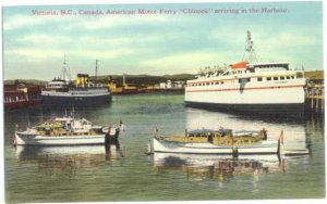 American Ferry Chinook arriving Victoria Harbour British Columbia Divided back
