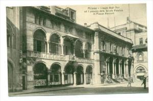 Milano , Italy, 00-10s   Loggia degli Osii ed il palazzo delle Scuole Palatin...