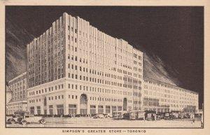 TORONTO , Ontario , Canada , 1930s ; Simpson's Greater Store