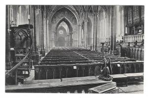 UK London Temple Church The Choir Vtg Valentine Postcard