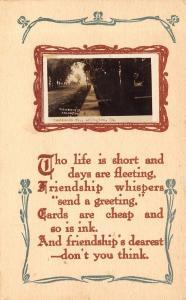 Arlington Iowa~Residence Street~Friendship Whispers: Send a Greeting~1913 RPPC