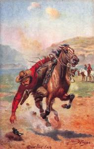 Harry Payne Signed Cowboy Fun Ridding Horse The Wild West Tuck Postcard