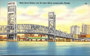Florida Jacksonville Main Street Bridge Over St John's River