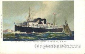 Passing the Goldern Gate, S.F.,USA Steamer Ship Ships Postcard Postcards Pass...