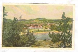 Picture of Hotel Tadoussac and little white church,St. Lawrence & Saguenay Ri...