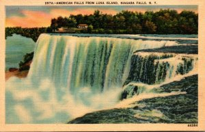 New York Niagara Falls American Falls From Luna Island