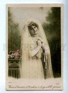 161761 WEDDING Bride vintage Photo tinted PC