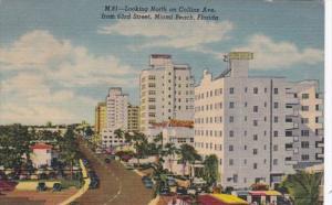 Florida Miami Beach Collins Avenue Looking North From 63rd Street 1958 Curteich