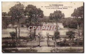 Old Postcard Normandy Bagnoles De l & # 39Orne Casino Du Lac Seen From Garden...