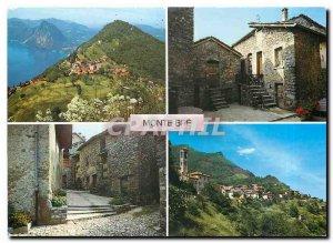 Postcard Modern Montebre Switzerland Villaggio Bre Sopra Lugano