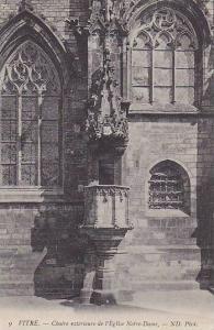 Chaire Exterieure De l'Eglise Notre-Dame, Vitre (Ille-et-Vilaine), France, 19...