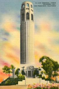 CA - San Francisco, Coit Memorial Tower, Telegraph Hill