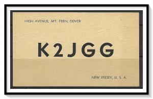 New Jersey, Mount Fern, Dover QSL Ham Radio -  (MX-009)