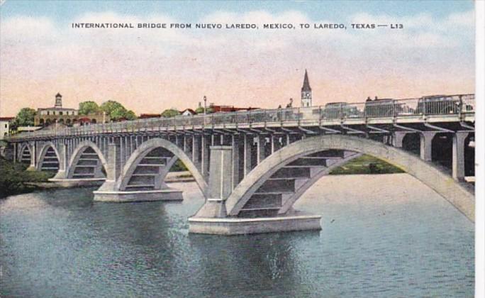 Texas Laredo International Bridge / HipPostcard