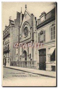 Old Postcard From Paris Chapel Churches American