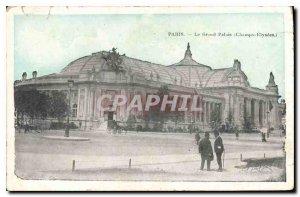 Old Postcard The Grand Palais Paris (Champs Elysees)