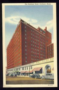 Portland, Maine/ME Postcard, The Eastland Hotel, Old Cars, #2, 1950's?