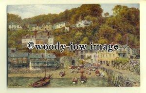 ar0304 - Clovelly from the Quay/Harbour *2366. Artist - A R Quinton - Postcard