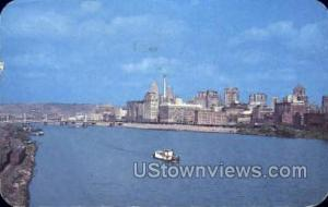 Allegheny River Pittsburgh PA 1951