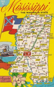 MISSISSIPPI, 1950-1960's; The Magnolia State, Map